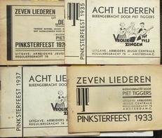 4  liederen boekjes nav Pinsterfeest 1927,1933,1935 en 1937.