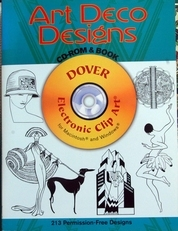 Art Deco Designs,CD-ROM & Book