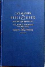 Catalogus der Koloniale Bibliotheek
