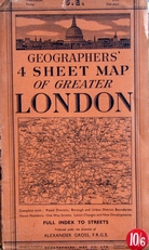 4 Sheet Maps of greater London
