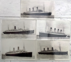 5 photographs of steamships.