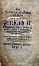 Dem Durchlauchtigsten Fursten und Herrn,Friedrich II.