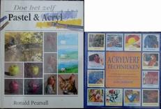 Acrylverf technieken en Pastel & Acryl. 2 boeken.