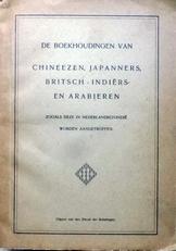 De boekhoudingen van Chineezen,Japanners etc.