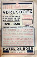 Adresboek van de oostkust van Sumatra etc.1928-1929.