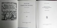Dutch emblem books & Emblem books in the low countries.2vol.
