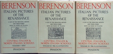 Berenson,Italian pictures of the Renaissance,3 volumes